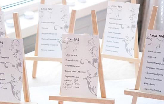 Как сделать номерки для столов своими руками - Vendservice.ru